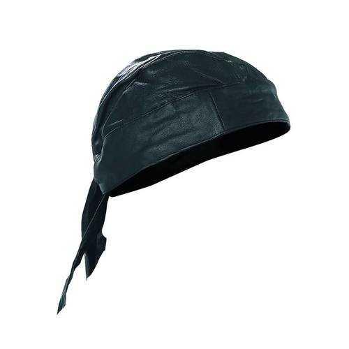 Solid Genuine Leather Skull Cap