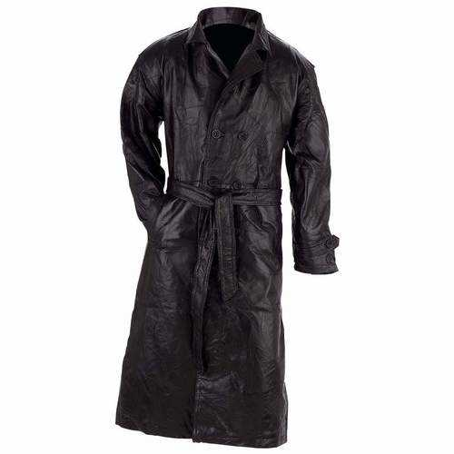 Genuine Leather Trench Coat