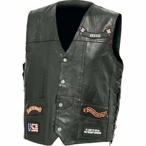 Genuine Buffalo Leather LED Vest