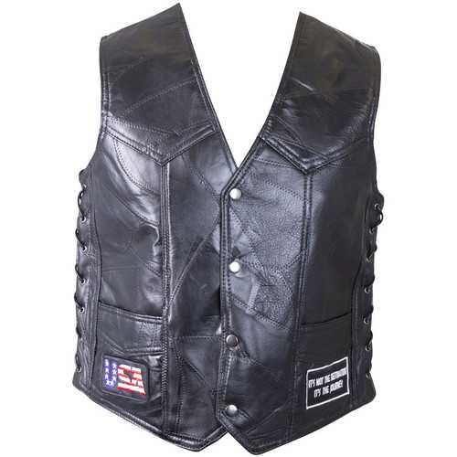 Genuine Buffalo Leather Vest