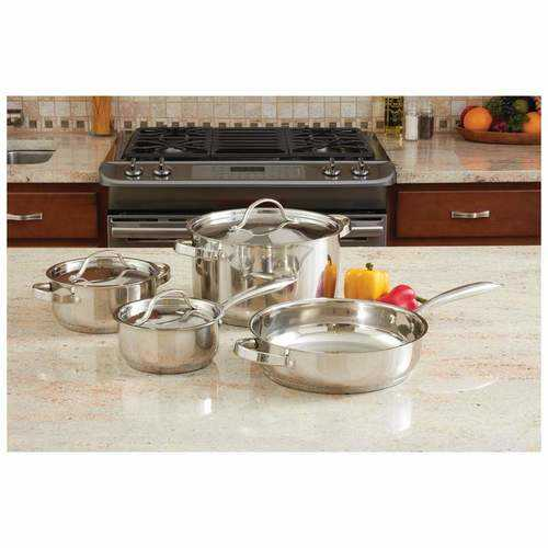 7pc Heavy Duty Stainless Steel Cookware Set