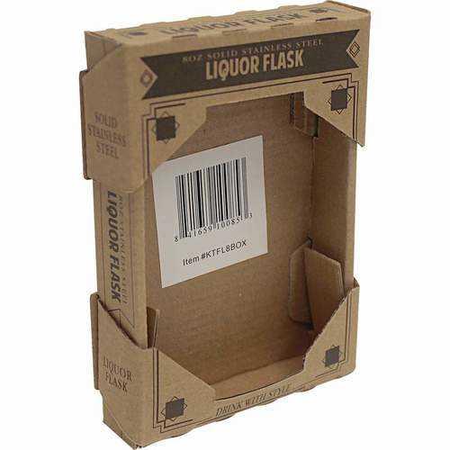 Brown Window Box for 8oz Flask