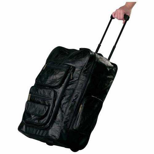 """Genuine Leather Super-Deluxe 23"""" Trolley/Backpack"""