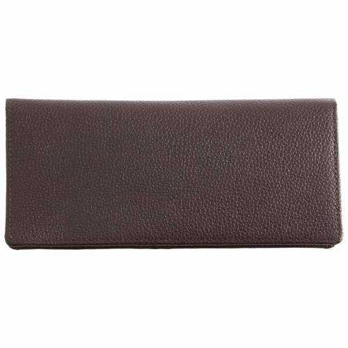 Chocolate Brown Solid Genuine Lambskin Leather Wallet