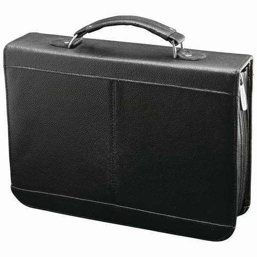 Solid Genuine Cowhide Leather Travel Electronics Case