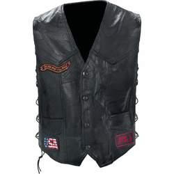 Genuine Buffalo Leather Biker Vest
