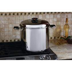 24qt 12-Element ''Waterless'' Stockpot with Deep Steamer Basket