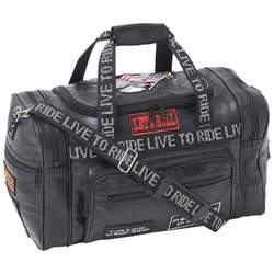 Genuine Leather LIVE TO RIDE Tote Bag