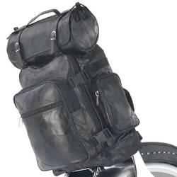 3pc Rock Design Genuine Buffalo Leather Motorcycle Bag Set