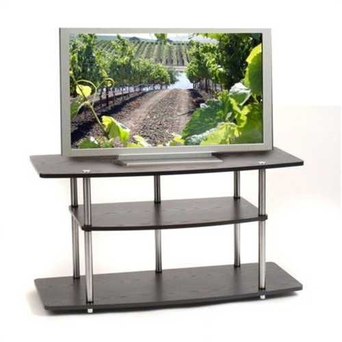 Black 42-Inch Flat Screen TV Stand by Convenience Concepts