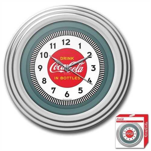 30s Style Chrome Coca-Cola Wall Clock