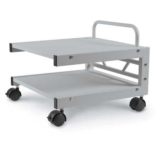 Low Profile Printer Stand with Bottom Paper Shelf and Locking Casters