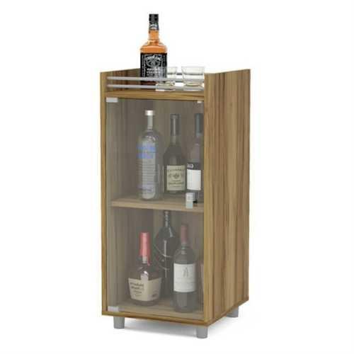 Sturdy Espresso 2 Shelf Classic Mini Home Bar