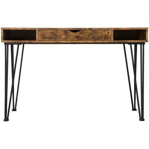 Farmhouse Rustic Home Office 1 Drawer Writing Desk