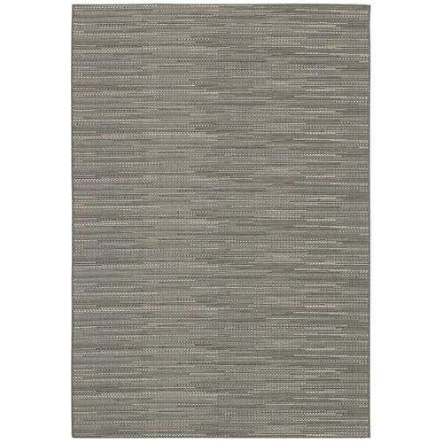 5'3 x 7'6 Neutral Grey Flat Woven Area Rug Indoor Outdoor