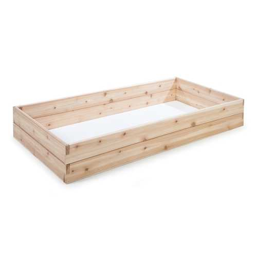 Cedar Wood 6-Ft x 3-Ft Raised Garden Bed Planter Box Frame - Made in USA