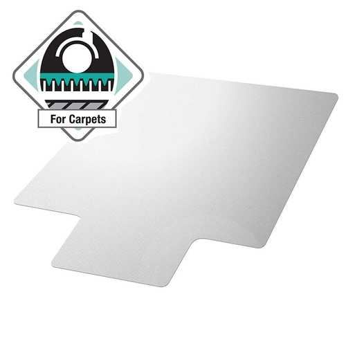 Heavy Duty 47 x 35 inch Chair Mat with Lip for Low to Medium Pile Carpet Floor