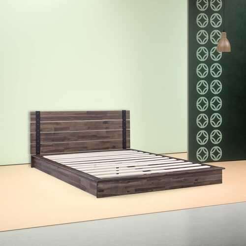 Full size Farmhouse Wood Industrial Low Profile Platform Bed Frame