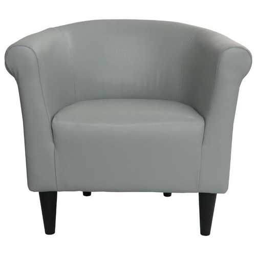 Gray Faux Leather Upholstered Accent Chair Club Chair - Made in USA