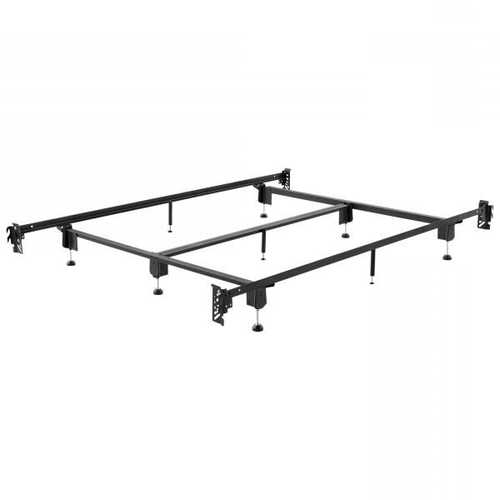 Queen Metal Bed Frame with Hook-On Headboard and Footboard Brackets
