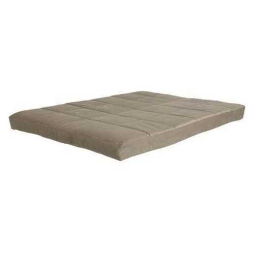 Full size 8-inch Thick Futon Mattress in Khaki Light Brown Color