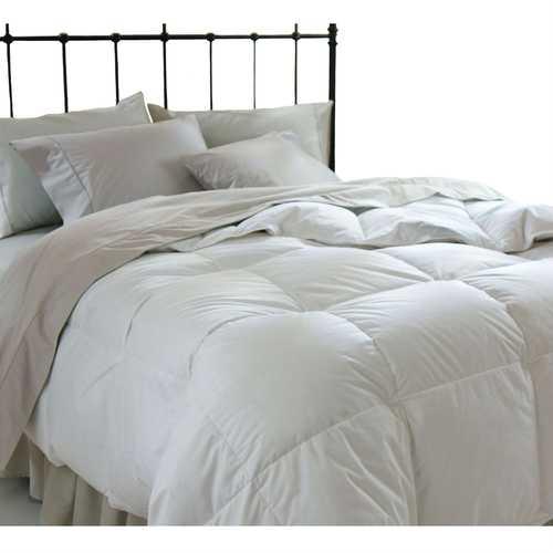 King size Down Alternative Comforter in White Microfiber