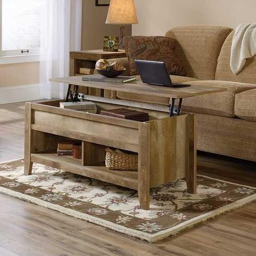 Rustic Farmhouse Oak Lift Top Coffee Table