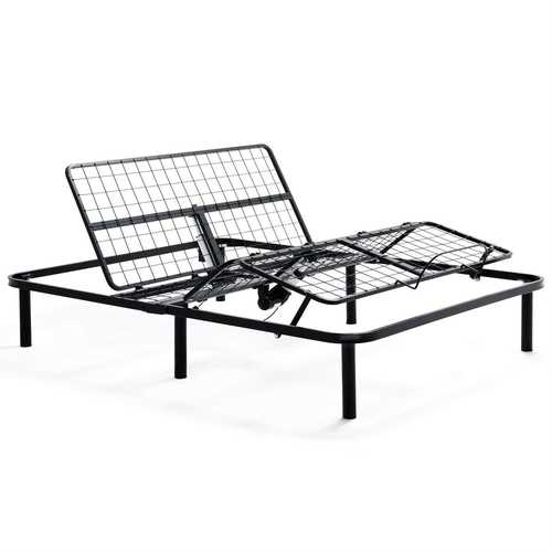 Twin XL Heavy Duty Adjustable Bed Frame Base with Remote