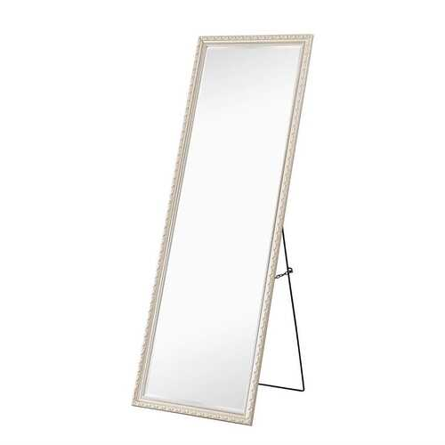 Champagne Full Length 65 x 22 Ornamental Filigree Floor Mirror