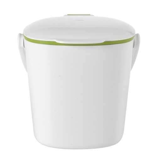 Good Grips White Compost Bin with Smooth Green Interior