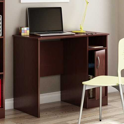 Compact Computer Desk in Royal Cherry Finish