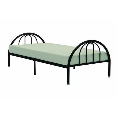 Twin Black Metal Platform Bed Frame with Arch Headboard & Footboard