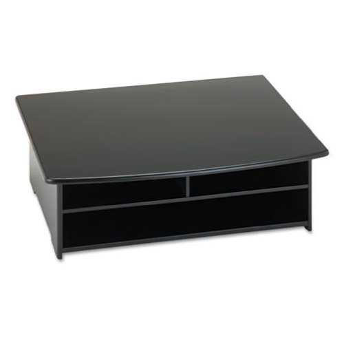 2-Shelf Printer Stand with Paper Holder in Black