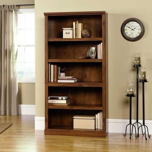 5-Shelf Bookcase in Oiled Oak Finish