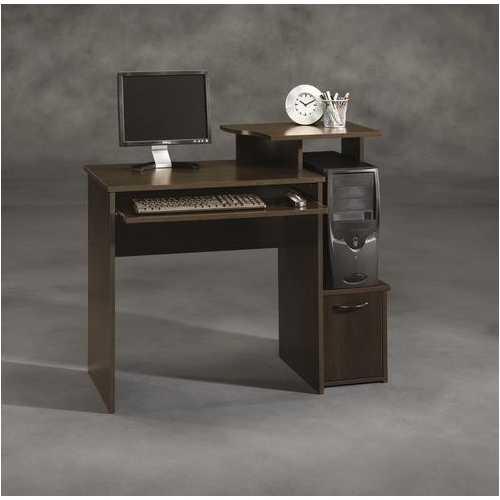 40-inch Wide Dark Wood Computer Desk