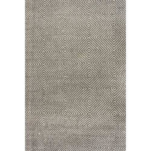 Gray 9' x 12' Flat Woven Hand Made Wool/Cotton Gray Area Rug