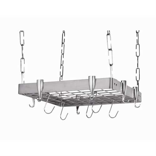 Square Stainless Steel Ceiling Hanging Pot Rack