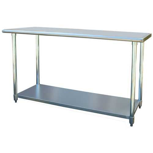 Contemporary 2Ft x 5Ft Stainless Steel Top Workbench Utility Table