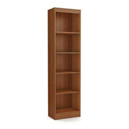 Cherry Wood Finish 71-inch Tall Skinny 5-Shelf Space Saving Bookcase