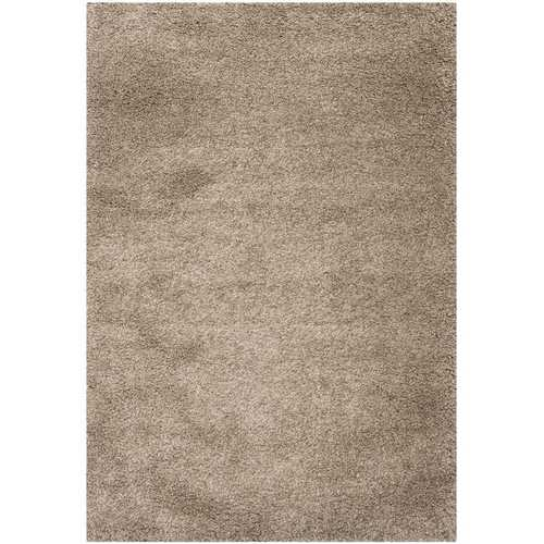 8' x 10' Hand-Tufted Plush Taupe Area Rug