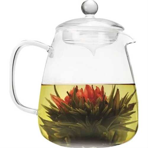 Borosilicate Glass 36 Oz Teapot with Glass Tea Infuser