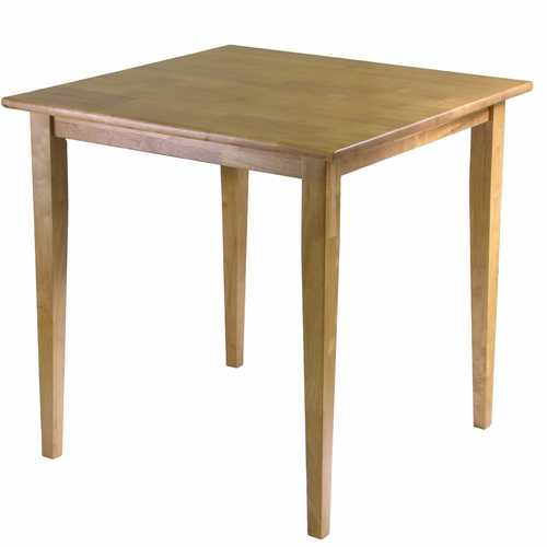 Solid Wood Shaker Style Square Dining Table in Light Oak Finish