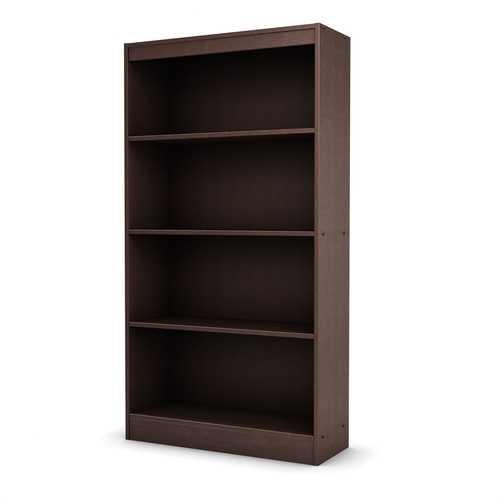 4 Shelf Bookcase in Dark Chocolate Finish