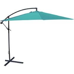 10-Ft Offset Cantilever Patio Umbrella with Aruba Teal Canopy