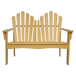 Category: Dropship Outdoors, SKU #BLWCS1892871, Title: Outdoor Cedar Wood Garden Bench Loveseat in Beeswax Finish