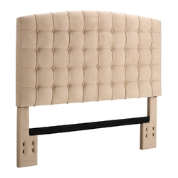 Full / Queen size Tufted Padded Upholstered Headboard in Beige
