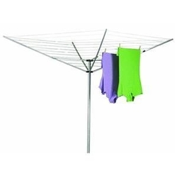 Category: Dropship Eco-home, SKU #HE12LOUSCD31, Title: 12-Line Outdoor Umbrella Style Laundry and Clothes Dryer