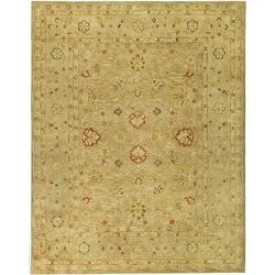 Handmade Majesty Light Brown/ Beige Wool Rug (7'6 x 9'6)