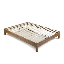 Category: Dropship Bath / Bedding, SKU #KPBFC852912, Title: King size Modern Platform Bed Frame in Rustic Pine Finish