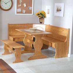 Category: Dropship Eco-home, SKU #LCDS34723, Title: Reversible 3-Piece Corner Dining Set Light Honey Natural Wood Finish